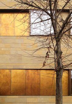 Panneau et plaque métalliques pour façade TECU® Brass_brownished by KME Italy S.p.A. - ARCHITECTURAL SOLUTIONS