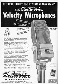 Electrovoice V1 Ribbon Mic ad #vintage #retro