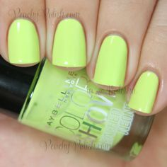 Maybelline Color Show Lime Accent | Summer 2014 Bleached Neons | Peachy Polish