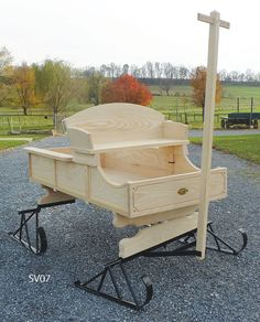 "Replica Miniature 48"" Long Buckboard Wagon"