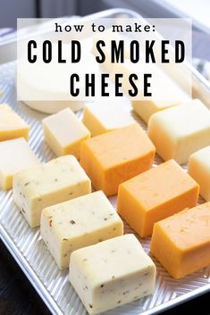 Smoked Cheese is the perfect snack sandwich addition or flavor booster to pasta or soups. Ill teach you how to smoke cheese so you can replicate this gourmet product at home! - Smoker - Ideas of Smoker Smoke Cheese Recipe, Cheese Recipes, Traeger Recipes, Grilling Recipes, Rib Recipes, Vegan Grilling, Oven Recipes, Copycat Recipes, Meat Appetizers