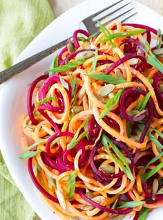 Raw Beet + Sweet Potato Salad.