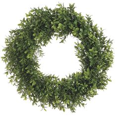 "Amazon.com: 17"" Boxwood Wreath Two Tone Green (Pack of 1): Home & Kitchen"