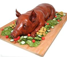 Suckling Pig Cake. AMAZING but probably couldn't make it myself..