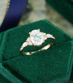 Dream Engagement Rings, Rose Gold Engagement Ring, Vintage Engagement Rings, Vintage Rings, Engagement Ring Settings, Simple Elegant Engagement Rings, Solitaire Engagement, Moonstone Engagement Rings, Unique Vintage