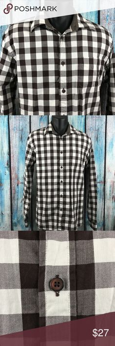 """ZARA MAN Men's Brown Plaid Slim Fit Dress Shirt Search our closet for other great products. Bundle items together to take advantage of discounts, and to get more out of your shipping costs!  *ZARA MAN* Men's Large Brown Plaid Slim Fit Long Sleeve Dress Shirt  Gently Used  Pit to Pit: 21""""  Total Length: 31"""" Zara Shirts Dress Shirts"""
