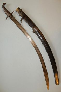Daghestani honour sabre Central Asian service Persian Wootz blade Triple signed with Asadullah Lion