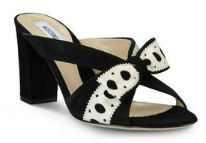 Moschino - Black Mule - 2 tone Polka Dot Bow - Front view - Spring / Summer 2013