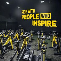 Fitness, Cycling, Spinning, Home Gym, Ride With People Who Inspire, Gym Design Ideas, Gym Quotes, Spinning Decor, Cycling Decor, Train, Gift Gym Design, Design Ideas, Emotional Photography, Inspire Gym, Gym Decor, Gym Quote, Co Working, White Vinyl, New Wall