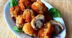 Początkowo miałem zrobić pieczarki faszerowane mięsem mielonym, lecz na blogu Kulinarne Przeboje znalazłem przepis na panierowane piecz...
