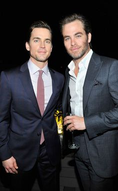 Matt Bomer and Chris Pine - Best photo :) Two of the most attractive men. :D