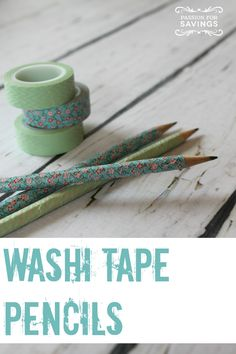 Here is a fun craft idea for the kids that can make a cute gift idea! Washi Tape Pencils.