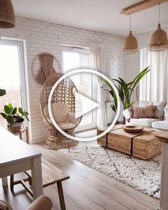 """Oliwia Niklas (@oliv.home) na Instagramie: """"A co tu się... 🙈 Wczoraj fotel z balkonu wparował do salonu bo brakowało nam miejsca siedzącego…"""" Mens Bedroom Decor, Bedroom Decor For Couples, Zen Home Decor, Pink Home Decor, Wall Decor Living Room, Natural Bedroom Decor, Simple Living Room Decor, Colourful Living Room Decor, Minimalist Home Decor"""