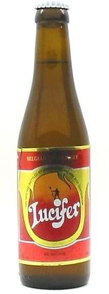Cerveja Lucifer Het Anker, estilo Belgian Golden Strong Ale, produzida por Brouwerij Het Anker, Bélgica. 8% ABV de álcool.