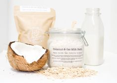 Naturally rich in fatty acids, vitamin E and saponins, our Coconut & Oat Milk Bath will gently clean your baby's (or mum's) sensitive skin.
