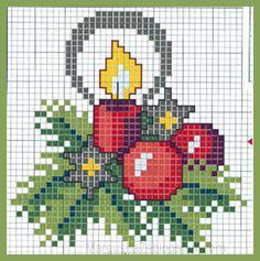 Коробка увлечений: Новогодние и Рождественские схемы для вышивки крестиком