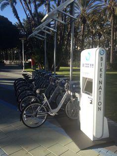 Bike Rental Kiosk at Anaheim Convention Center. Carbon Footprint no more.