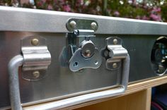 Close up of the top quality lock and tough carry handle - All secured in place by top quality, ultra secure aircraft rivets - Built to last and available from www.mohicantents.co.uk