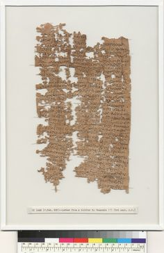 Ancient Papyrus Is a Soldier's Letter Home: Dating back about 1,800 years, this letter was written, mainly in Greek, by Aurelius Polion, an Egyptian man who served with the legio II Adiutrix legion around modern-day Hungary. In the letter, discovered more than a century ago in the Egyptian town of Tebunis and only recently translated, Polion pleads with his family to respond.