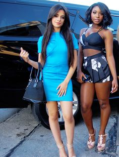 Fifth Harmony stop for a photo op outside Craig's - 6/18
