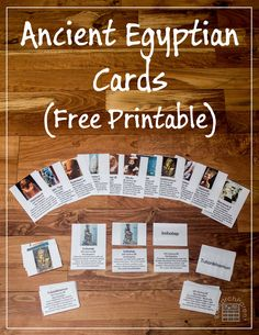 Ancient Egyptian Cards - A fun, hands-on way to learn about 12 of Ancient Egypt& most powerful and well-known historical figures. Ancient Egyptian Cards - A fun, hands-on way to learn a Ancient Egypt Lessons, Ancient Egypt Activities, Ancient Egypt For Kids, History Activities, Teaching History, Ancient History, European History, Ancient Aliens, Ancient Greece