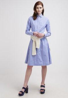 Polo Ralph Lauren - OLIVIA  - Robe chemise - white/blue Midi Skirt, Polo Ralph Lauren, Normcore, Skirts, Vintage, Style, Fashion, Dress, Shirt