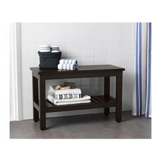 HEMNES Banc - teinture noir-brun - IKEA 83 cm (teinté brun / noir)