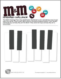 Piano Lessons For Kids, Music Lessons, Piano Keyboard Keys, Easy Piano Sheet Music, Piano Music, Music Flashcards, Music Theory Worksheets, Sticker Chart, Free Printable Worksheets
