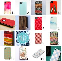 Etsy iPhone cover roundup from 6th Street Design School...I need a new cover.