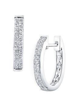 Bony Levy 'Classic' Diamond Hoop Earrings