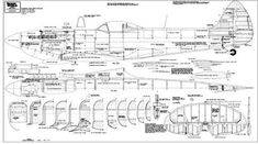 PLAN FOR MODEL SUPERMARINE SPITFIRE MK. 16E