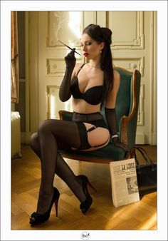 hot model sexy lingerie though only pretending sophistication with a