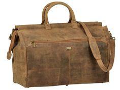 Harold's Antico - Leder Reisetasche Sporttasche Weekender - antikbraun 142703