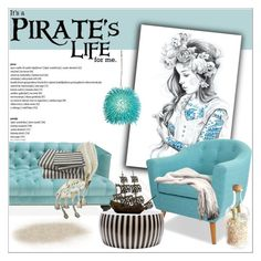 """It's a pirate's life for me"" by deeyanago ❤ liked on Polyvore featuring interior, interiors, interior design, home, home decor, interior decorating, Jonathan Adler, Varaluz and DwellStudio"