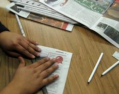 STEM lesson : Rolling Newspaper for Building a Paper Tower