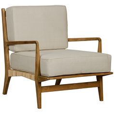 Allister Chair, Teak and Rattan - occasional chairs