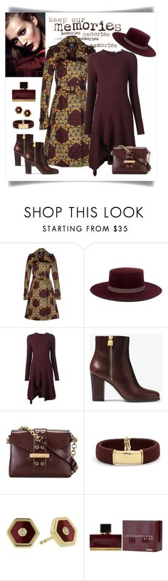 """""""Stella Jean Weave Print Trench Coat Look"""" by romaboots-1 ❤ liked on Polyvore featuring Stella Jean, Janessa Leone, Givenchy, MICHAEL Michael Kors, Marc Jacobs, Chico's, Mark Davis and Fendi"""