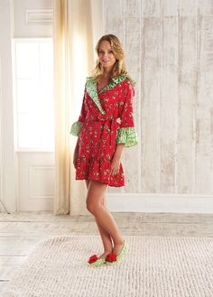 Wrap up in Holiday Cheer!  Cute selection of robes and PJ's, perfect for the holidays!  Friend us on Facebook:  etcboutique asheboro