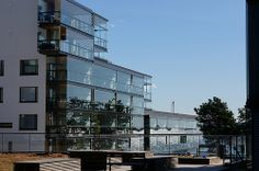 Modern residential architecture by the sea in Helsinki