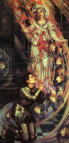Pre Raphaelite Art: Our Lady of Peace- Evelyn de Morgan