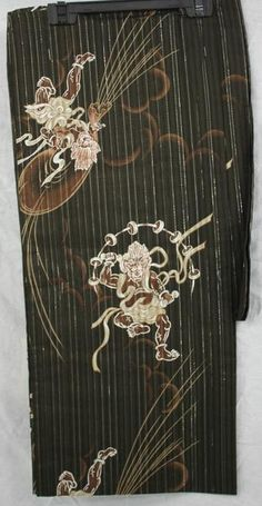 BHTK - 浴衣 Japanese traditionnal Yukata - Gods of Wind and Thunder L SIZE
