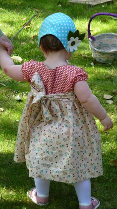 Easter bonnet and dress - oh how sweet!