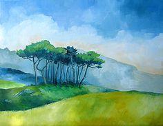 Ganz egal, ob gezeichnet oder in Öl, Acryl oder Aquarell gemalt, Pinien eignen sich hervorragend für spannungsvolle Landschaftsmalerei.