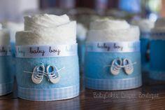 Muchacho bebé ducha regalo torta de pañales por BabyCakesByDaisy