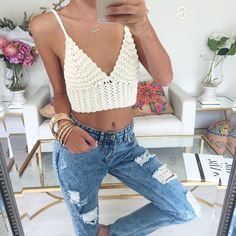 """""""Knitted to perfection. Get the Tuscany Top in Cream now at #SaboSkirt.com"""""""