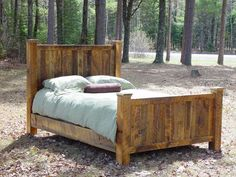 WANT! Rustic Furniture: Handcrafted from Green Reclaimed Heart Pine and Northern White Cedar.