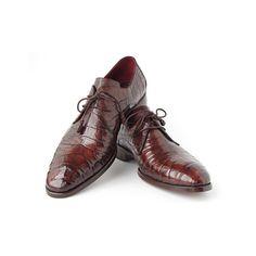 Paul Parkman Men's Brown Genuine Crocodile Derby Shoes