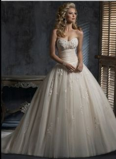 Glamorous Ball gown wedding dress style Chardonnay By Maggie Sottero