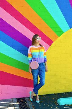 Hello Katie Girl Shine Like a Rainbow is part of Kids wall murals - Rainbow Bedroom, Rainbow Wall, Rainbow Room Kids, Garden Mural, Instagram Wall, Shotting Photo, School Murals, Mural Wall Art, Kids Wall Murals