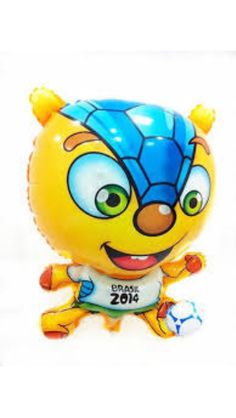 Fuleco Fifa Brazil 2014 World Cup Mascot Balloon - Balloon 18 inch - Great for sport birthday or World Cup party   on Etsy, $3.80